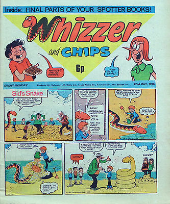 WHIZZER & CHIPS + FREE GIFT !!  22nd MAY 1976 - RARE & COLLECTABLE !! VG+..dandy