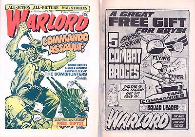 WARLORD + FREE GIFT FLYER !! 8th JANUARY 1977 - RARE & COLLECTABLE !! VG+ victor