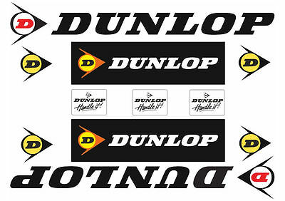 Dunlop Tire Motorcyle Decals Stickers Graphic Set Logo Adhesive Kit 13 Pcs