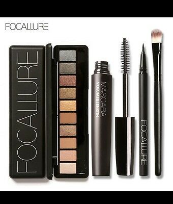 Kit 4 cosmétiques maquillage yeux liner palette fard mascara PROFESSIONNEL neuf