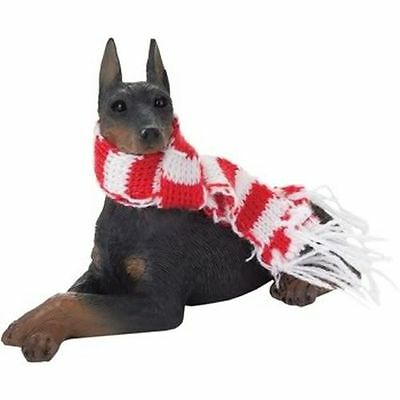 New Sandicast Black Doberman Pinscher Christmas Ornament