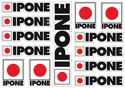 Ipone Motorcyle Decals Stickers Factory Graphic Set Logo Adhesive Kit 13 Pcs