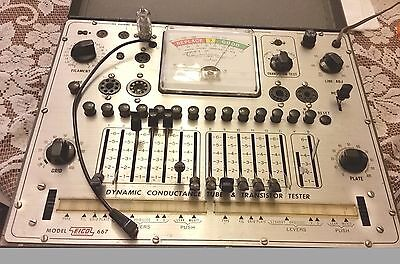 Vintage Eico Model 667 Dynamic Conductance Vacuum Tube And Transistor Tester