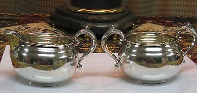 Gorham Sterling Silver 909 & 910 Cream & Sugar Bowl Set  - No Monogram