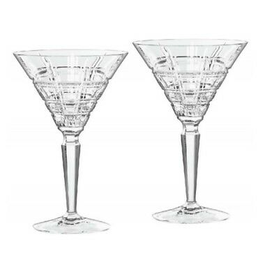 New Waterford Crosby Martini, Pair