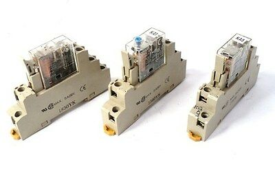 Lot Of 3!! Omron P2Rf-08-E/g2R-2-Sn Terminal Sock Relay W/ Relay 5A 250Vac