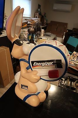 "RARE Large 20"" Tall Energizer Bunny Plastic Figure Figurine Toy Store Display"