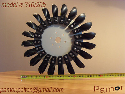 Pelton wheel free Hydro energy 310sd/20b (12.2 inches)