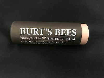 Burt's Bees Tinted Lip Balm, 100% Natural ~ Honeysuckle, Lot of 10 (AUSTRALIA)