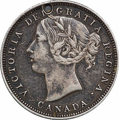1858 Canada 20 Cents Victoria, One Year Type, KM# 4 - Low Mintage