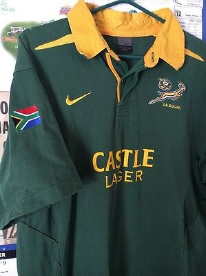 Nike South Africa Rugby Castle Lager Authentic Nike Rugby Jersey XXL