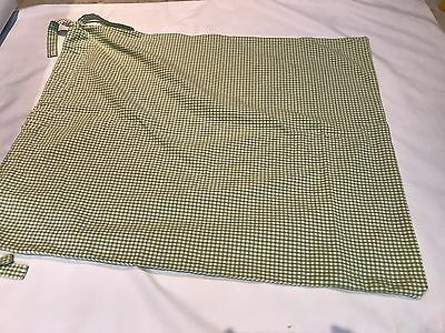 Pottery Barn Kids Green Gingham Toy or Laundry Bag