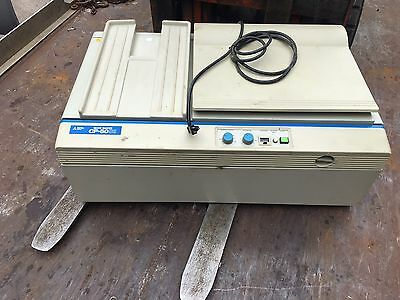 MITSUBISHI CP-50SII Table Top Plate Maker.  Working