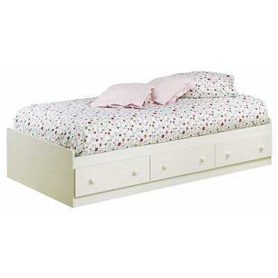 Summer Breeze Twin Mates Bed, White Wash - 3210080