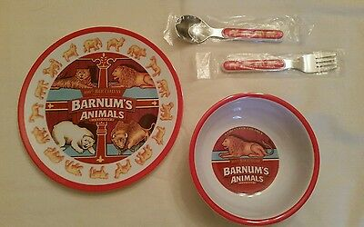 Barnum's Animal Crackers 4-piece Commemorative Dish Set NEW
