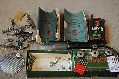 Vintage Singer sewing machine parts