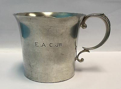 Cartier Sterling Silver John Coney Christening Cup by Watson