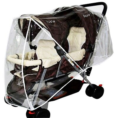 Latest Stroller Rain Cover Infant Tandem Pram Buggy Raincover Protective Shield
