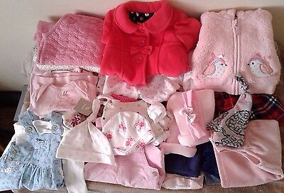 Job Lot Baby Girls Clothes Large 50+ Bundle New Born 0 3 Mth Mothercare Tu M&co