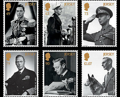 Jersey 2017 King George VI Legacy Queen Victoria uniform military dog 6v mnh **