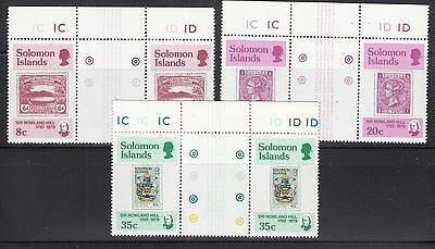 Solomon 1979Rowland Hill Sc  393-395 Gutter Pairs Complete Mint Never Hinged