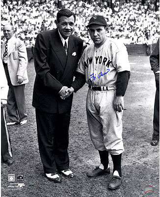 Steiner Yogi Berra Signed Standing With Babe Ruth 16x20 Photo