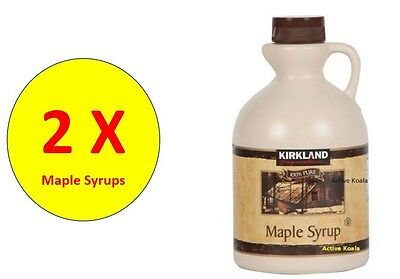2 x Kirkland Signature Maple Syrup 1L / 100% Pure