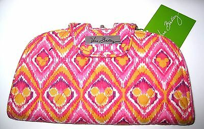 NEW Vera Bradley✿Bouncing Bouquet Kiss Snap Wallet Pink Yellow Mickey Minnie NWT