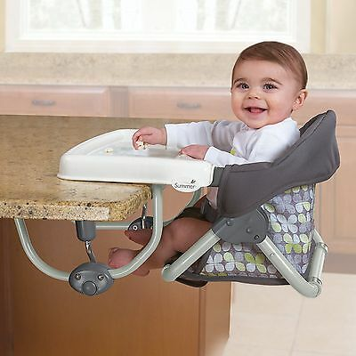 Portable Toddler child baby Feeding SecureSeat Hook-On Booster High Chair Table