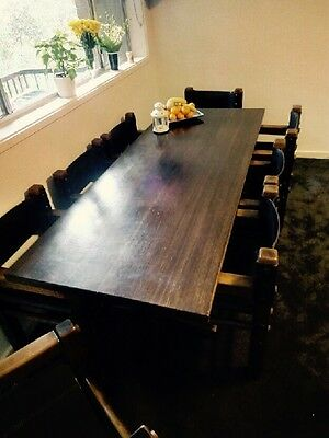 Excellent quality hard wood table and 8 chairs!!!!!