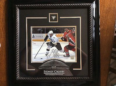 Sidney Crosby Penguins autograph 8x10 photo framed frameworth COA Stanley Cup