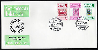 Solomon Islands - 1979, Rowland Hill Death Centenary, First Day Cover