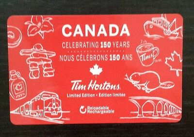TIM HORTONS New Release Canada Gift Card With No Value 150 years Reloadable