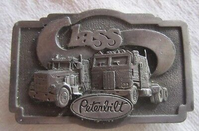 "Vintage 1978 PETERBILT BELT BUCKLE TONKIN PEWTER 3 1/2 x 2"" *"
