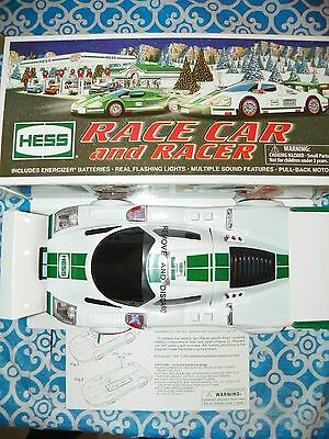 NEW 2009 HESS TRUCK - RACE CAR and RACER - BRAND NEW IN BOX (WITH BAG)