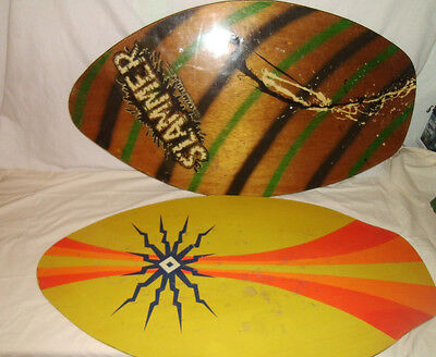 """skimboards 2 used boards around 36""""x20"""" and  34""""x 20"""" been used great fun"""