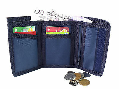 6a7a26243898 Mens Ladies Boys New Canvas Wallet Coin Pouch Credit Card Holder Sports