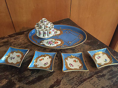 Carl Thieme DRESDEN Cigarette Holder & 4 Ashtrays 1875-1901 NEW PRICE