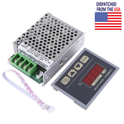 US 12-80V PWM DC Motor Speed Controller Governor With Digital Display Panel 30A
