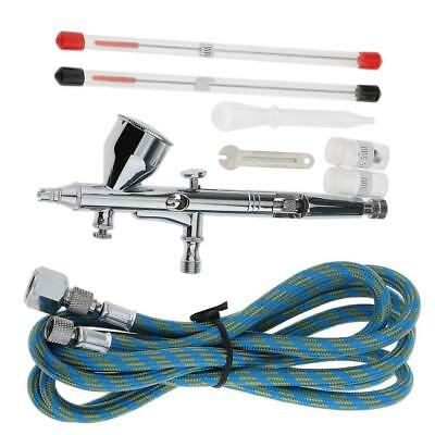 Airbrush Spray Gun Dual Action Air Brush Craft Tattoo Hose 0.2mm/0.3mm/0.5mm