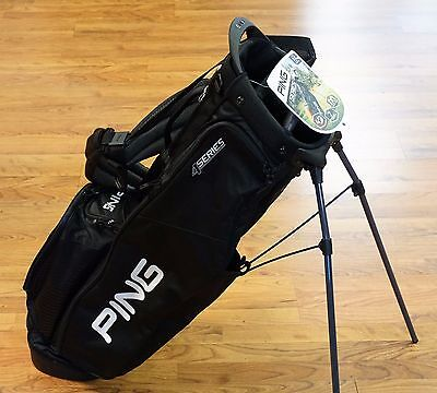 2017 PING Golf 4 Series Lightweight Dual Strap Stand Bag Black / White - NEW!