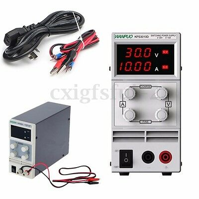 Adjustable DC 0-30V 0-10A Bench Power Supply Precision Variable Digital Lab UK