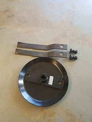 Stump Jumper Blade Pan With 5 Ft. Rotary Cutter Blades And Bb55 Blade Bolts