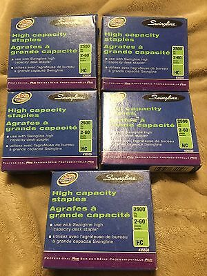 Swingline High Capacity Staples Lot-5 Boxes, 2500 Per Qty,#35550,new,unused