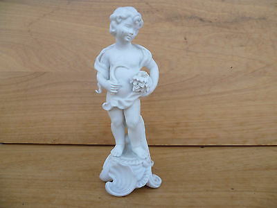 Vintage Old Porcelain German, French Style Cupid, Cherub Figure, (710)