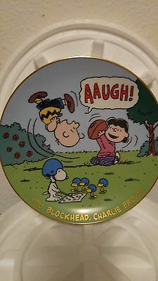 Peanuts Magical Moments You Blockhead Charlie Brown! Lim Ed Collector Plate