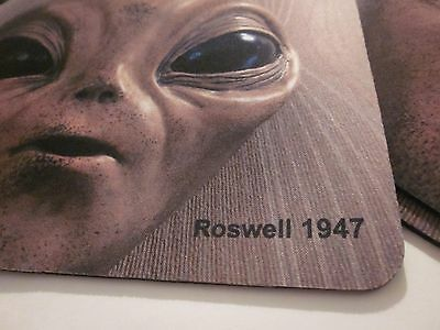 """Mouse Pad """"1"""" Roswell Nm Ufo Alien Area 51 Souvenir Collectible"""