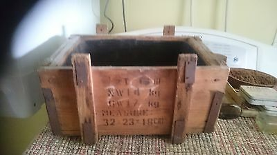 1 x box Rustic wooden crate old vintage industrial fruit display timber wooden