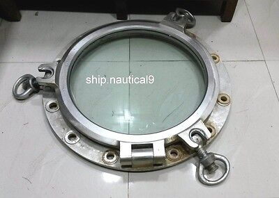 RARE VINTAGE MARINE SHIP ALUMINIUM ROUND PORTHOLE THREE KEY FROM JAPAN SHIP 1pcs
