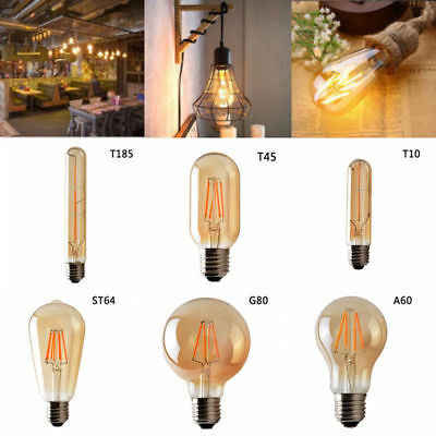 Vintage Industrial Retro Edison LED Bulb Light Lamp E27/B22/E14 220V Top Quality